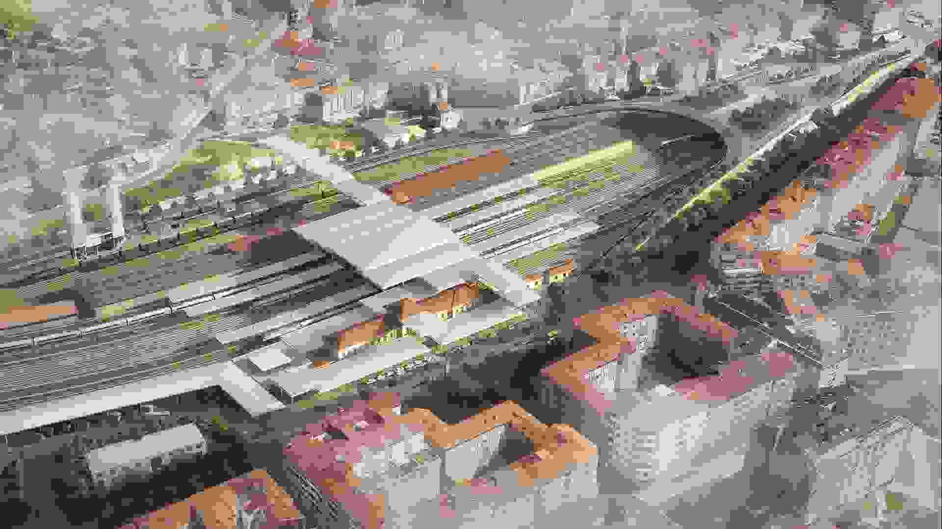 Designs for Ourense Intermodal Station in Spain revealed | Foster + Partners