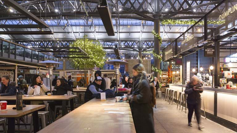 Christmas celebrations kick off at newly revamped Old Spitalfields Market