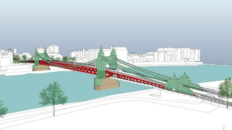 Feasibility study concludes Hammersmith Bridge could re-open to pedestrians ne