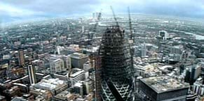 Swiss Re HQ, 30 St Mary Axe Timelapse