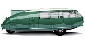 Dymaxion Car test drive with Norman Foster